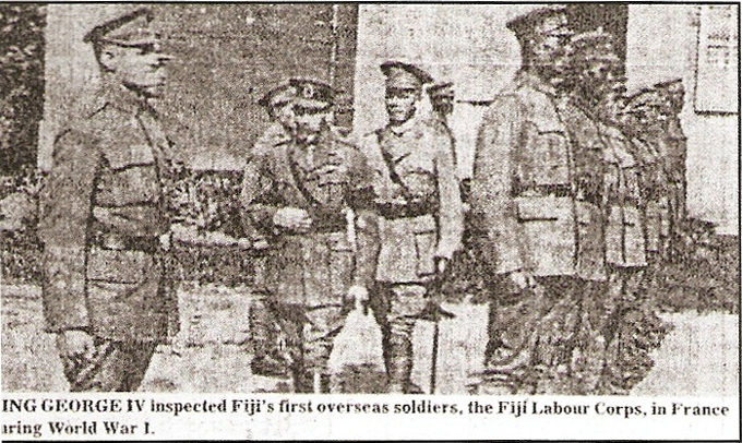 King George V inspecting Fiji Labour Corps
