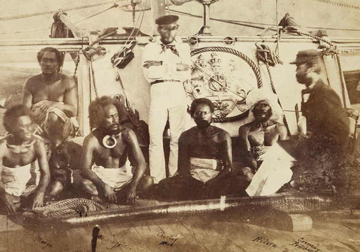 Ritova aboard Pelorus at Levuka1861