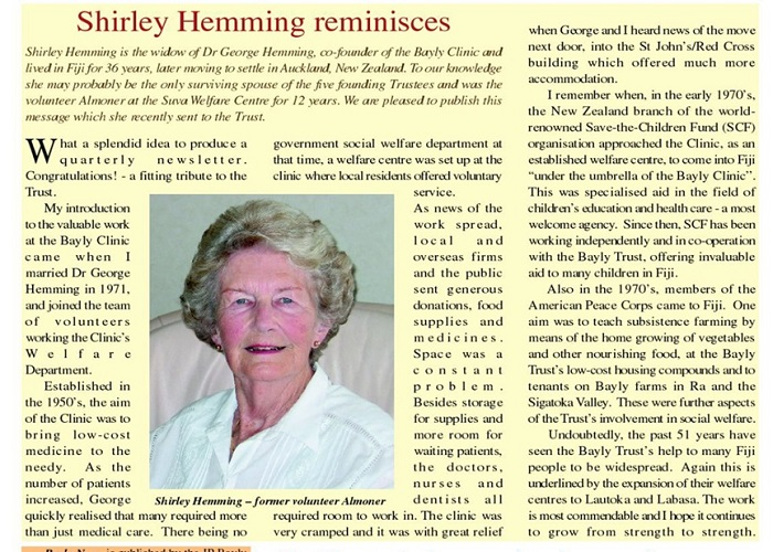 shirley hemming almoner